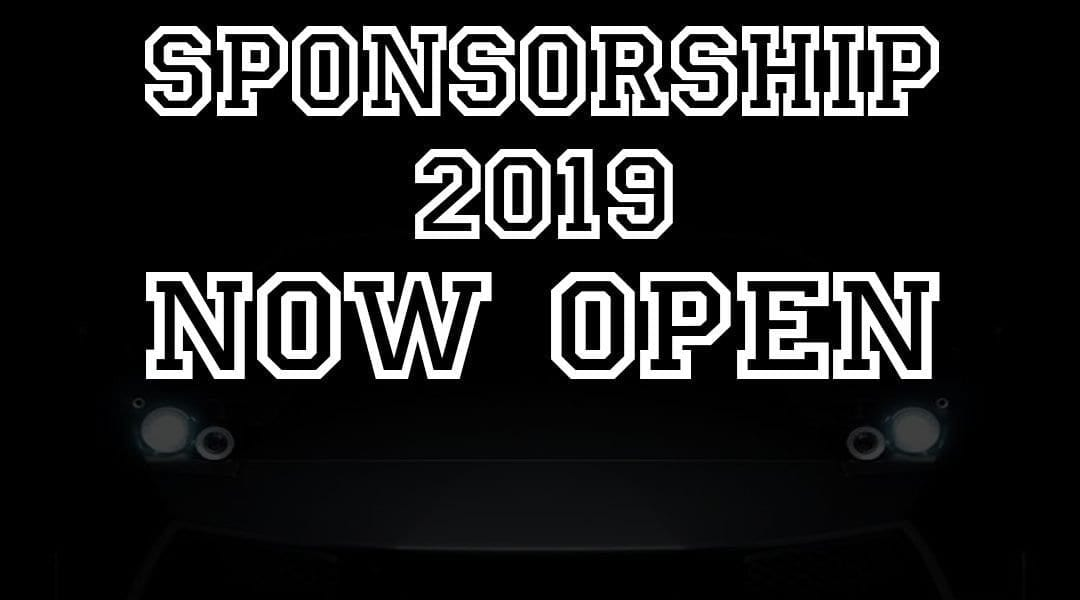 Sponsorship is now OPEN for 2019!